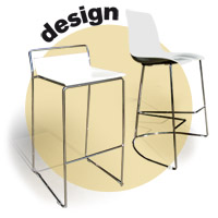 FURNITURE/DESIGN Tre3, Elle CHAIRS STOOLS TABLES AND BAR TABLES