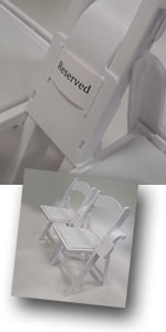 Event folding chairs linking and spacing with style