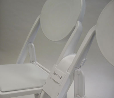 Linking Spacer With Louis Folding Chairs