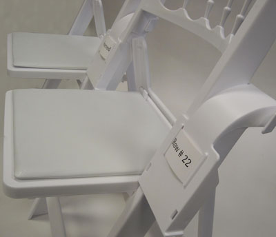 Linking Spacer With Chateau Folding Chairs
