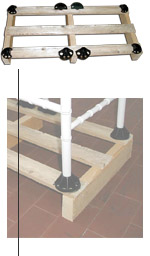 Chiavari shoes: secure chairs to a pallet