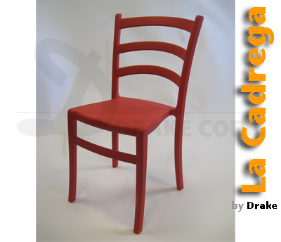La Cadrega resin stacking chairs