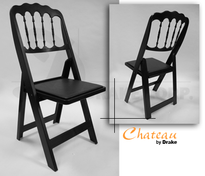 Chateau high back folding chair / black color