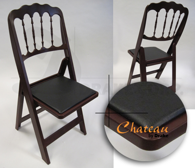 Chateau high back folding chair / redwood color