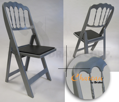 Chateau high back folding chair / silver color