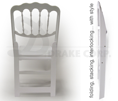 DRAKE CHATEAU folding and stacking chairs