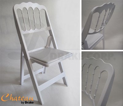 Chateau folding and stacking chair / White