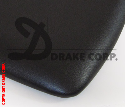 Black Chiavari rigid pad, custom shape, detail