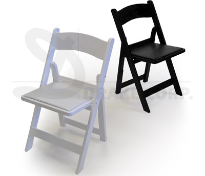 Awesome CHIP Resin Folding And Stacking Chairs (AKA White Wedding Folding Chairs)  By Drake Corp.