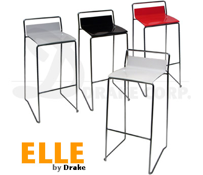 ELLE stools, Color Detail: white, gray, red, black