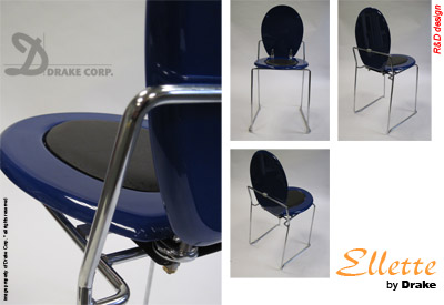 Ellette Design Toilet Chair by R&D Design for Drake Corp. STANDARD EDITION • BL • blue