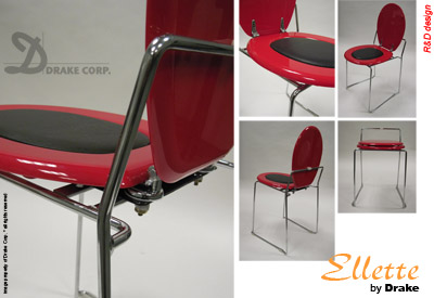 Ellette Design Toilet Chair by R&D Design for Drake Corp.