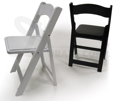 Black & White Structure Folding Chairs