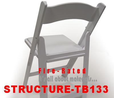 STRUCTURE TB133 Fire rated resin folding and stacking chairs