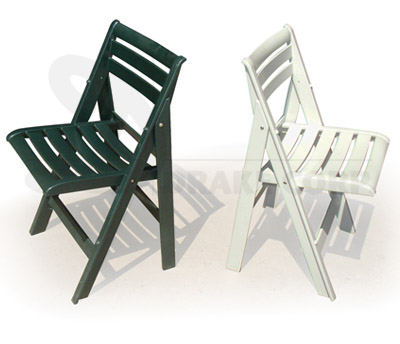 Ispra White & Green Folding Chairs
