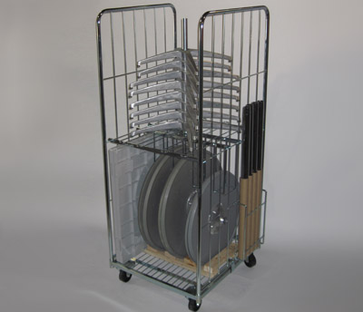 Table cart, fits different sizes of tables-door friendly