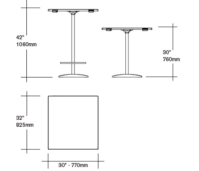Tables dimensions