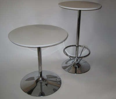28 in. table and 24 in. bar table - footrest optional