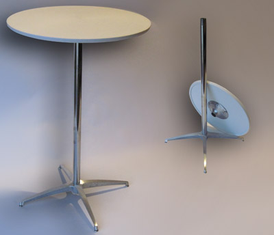 24 in. Round Bar Table with spider base