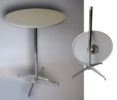 28 in. Round Bar Table with spider base