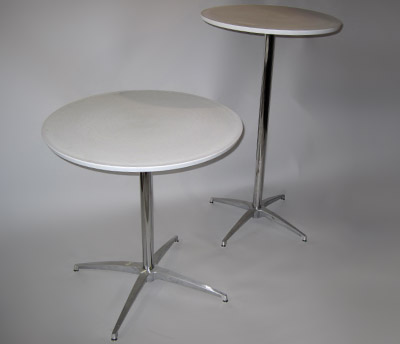 28 in. Round Table 24 in. Round Bar Table with spider base