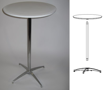 bar table with assembly
