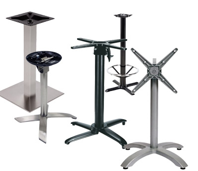 Our table tops can be adapted and used with most leg systems on the market