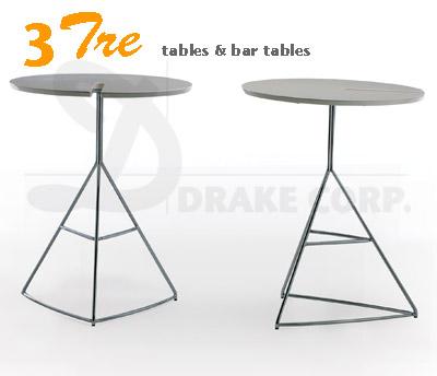 """TRE3 BAR TABLES 24""""Ø, 42""""h"""