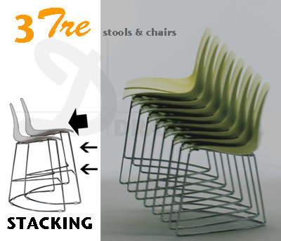 TRE3 chairs & barstool easy stacking