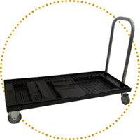 Chair Cart for HIGH BACK Folding Chairs