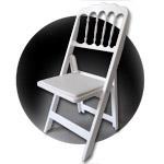 CHATEAU sedia pieghevole ed impilabile a schienale alto