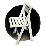 ISPRA resin folding & stacking chairs, by Centro Erre
