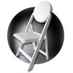 LOUIS sedia pieghevole ed impilabile a schienale alto