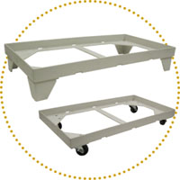 RG chair tray, pallet & dolly for FOLDING chairs