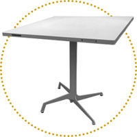 DSN tavoli modulari pieghevoli e accatastabili per la ristorazione