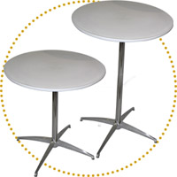 Round Tables & Bar Tables rental/catering style