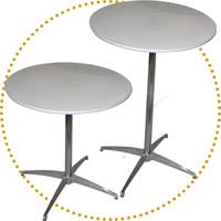 Tavoli e tavoli bar tondi catering style
