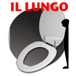 "TOILET SEATS: IL LUNGO • 18.5"" (US SIZE/ELONGATED BOWLS)"