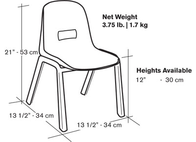 D130-Kid–Chairs-Dimensions