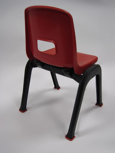 D130 Kindergarten Chair Detail red
