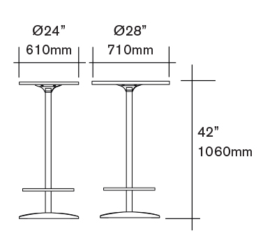 Tables & Bar/Cocktail Tables Dimensions